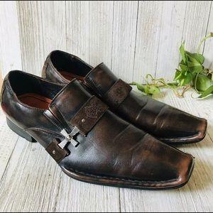 Robert Wayne Leather Western Cowboy Shoes